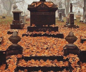 autumn, graveyard, and fall image