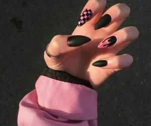 black, girl, and pink image