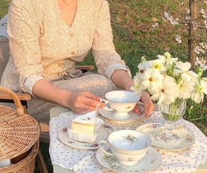 aesthetic, picnic, and tea image