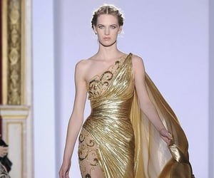 gold, gorgeous, and Zuhair Murad image