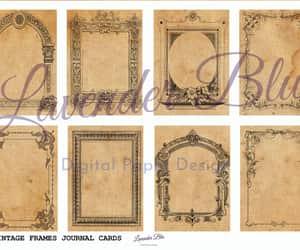 vintage cards, journal printable, and ephemera image