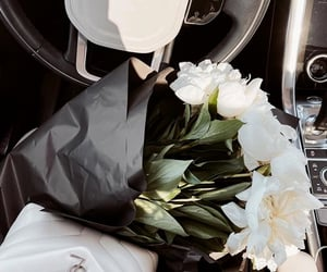 classy, white, and flowers image