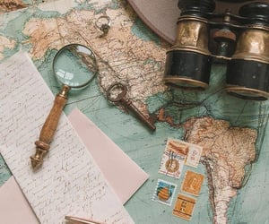 travel, vintage, and map image