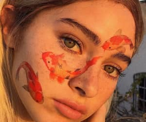 girl, aesthetic, and fish image