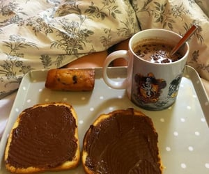 bread, nutella, and sugar image