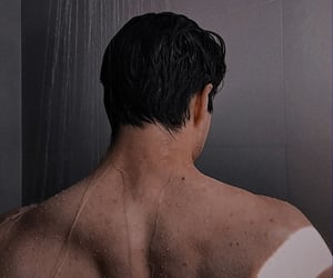 boy, Hot, and shower image