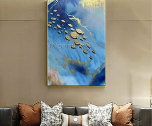 abstract art, Abstract Painting, and goldfish image