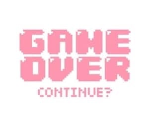 game over, game, and pink image