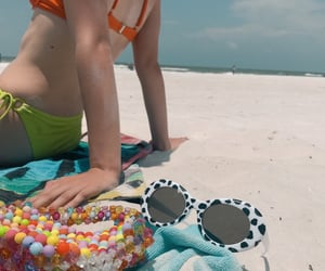 beach, colorful, and fashion image