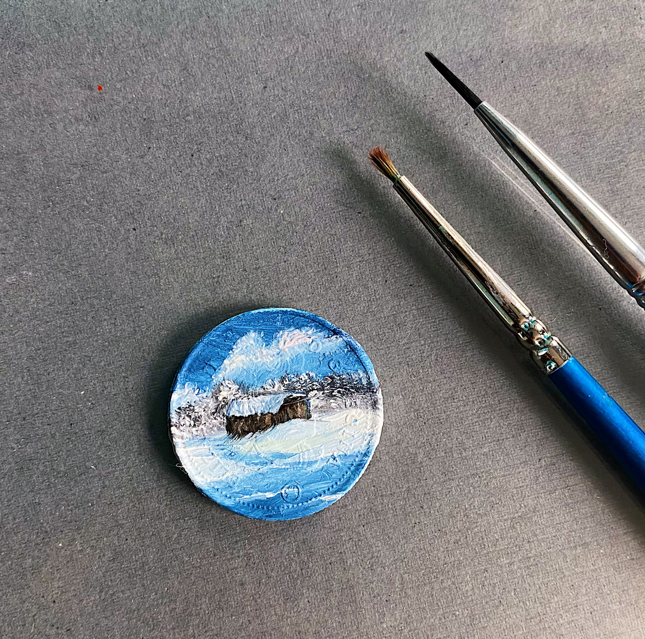art, painting, and bob ross image