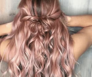 hair, style, and beach waves image