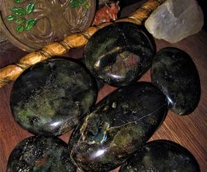 aurora borealis, reynardine, and tumbled stone image