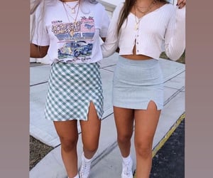 best friends, outfits, and bestie image