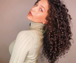 beautiful hair, curls, and curly hair image