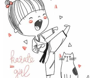 etsy, karate girl, and machine embroidery image