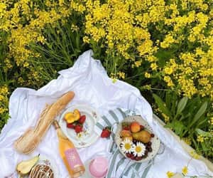 dreamy, flowers, and food image