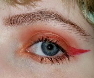 aesthetic, blue eyes, and eyeliner image