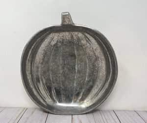 etsy, pewterpumpkintray, and pumpkinbowl image