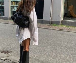 boots, hair, and shirt image