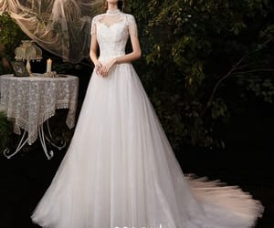 bridal, affordable wedding dress, and girl image