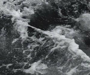 black, black&white, and ocean image