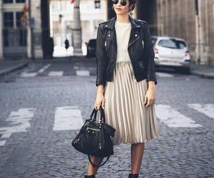 edgy, fashion, and leather jacket image