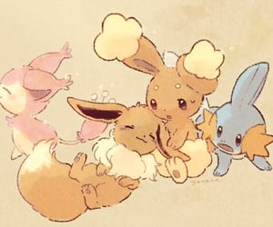 brown, pokemon, and skitty image