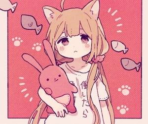 anime, anime girl, and cat girl image