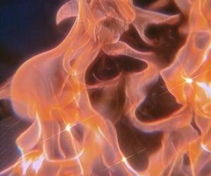 aesthetics, orange aesthetic, and flames image