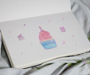 journal cupcake birthday image