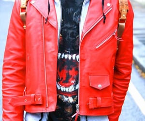 jacket, red, and red jacket image