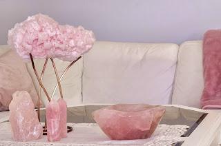 crystals, InteriorDesign, and rosequartz image