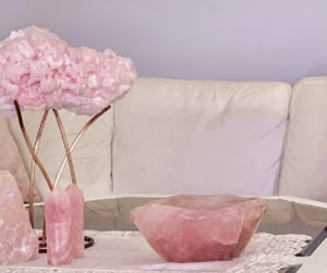 crystals, rose, and homedecor image
