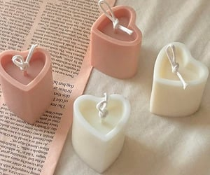 candle, heart, and pink image