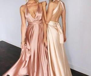 evening dress, cheap bridesmaid dress, and simple bridesmaid dress image