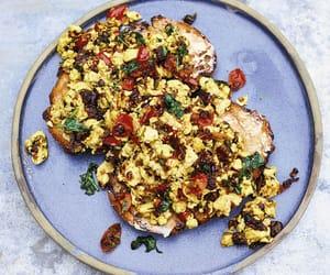 breakfast, scrambled tofu, and chilli image