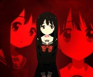 anime, anime girl, and red image