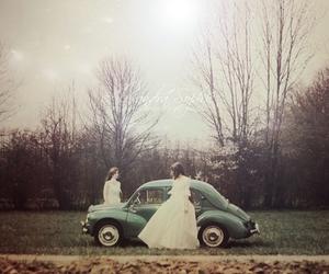 car, girl, and dress image