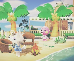 animal crossing, acnh, and beach image