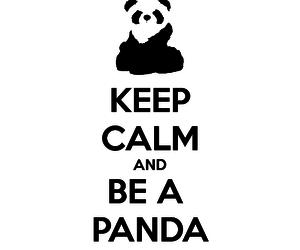 keep calm & be a panda image