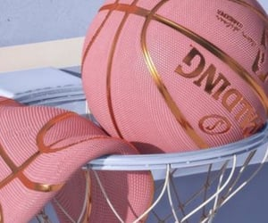 pink, Basketball, and aesthetic image