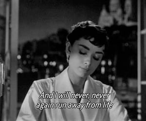 quotes, audrey hepburn, and life image