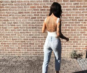 fashion, tattoogirl, and tattoo image
