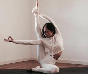 fitness, yoga, and girl image