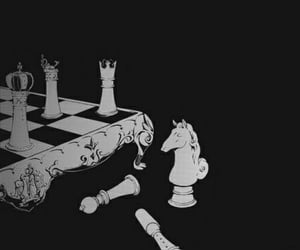 black, chess, and wallpaper image