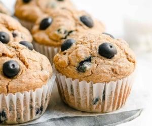 bakery, blueberry, and cupcake image