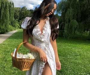 dress, fashion, and woman girl image