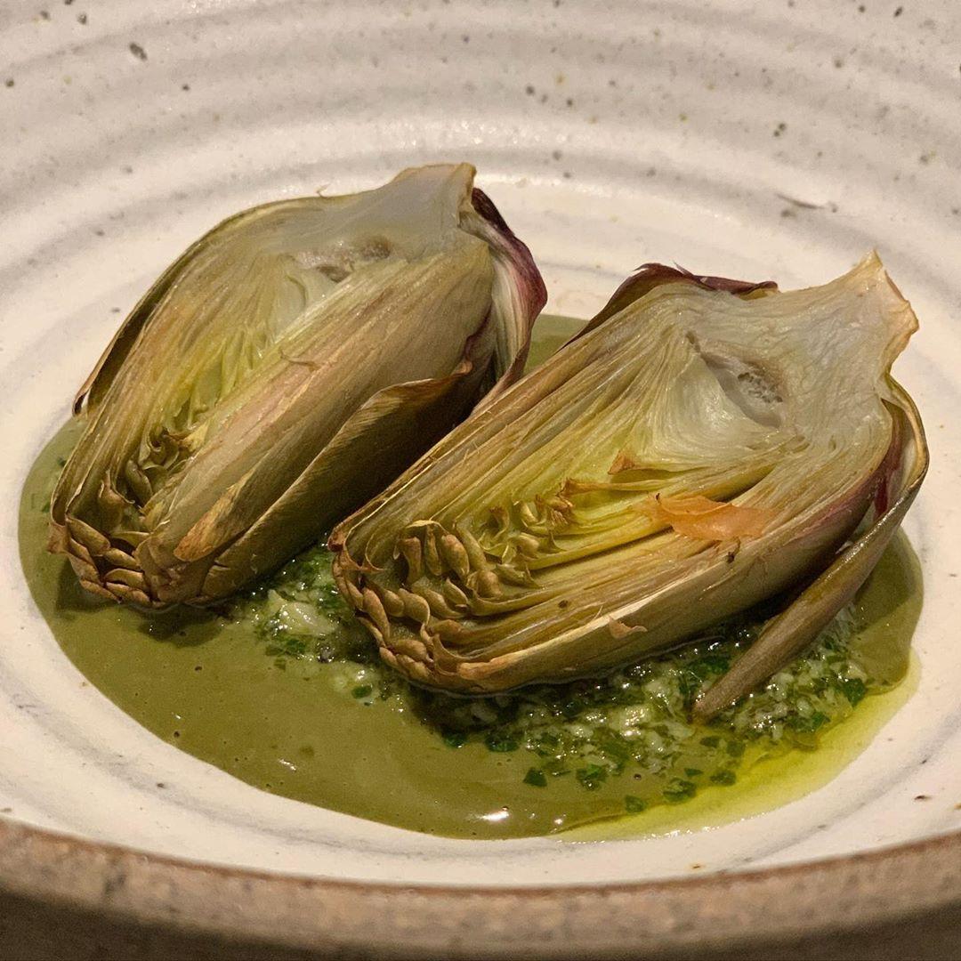 artichoke and pistachio cream image