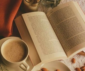 books, coffe, and winter image