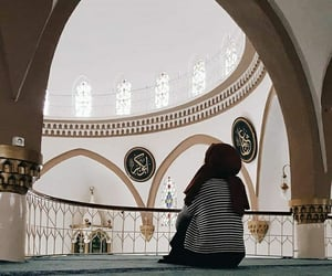 architecture, hijab, and mosque image